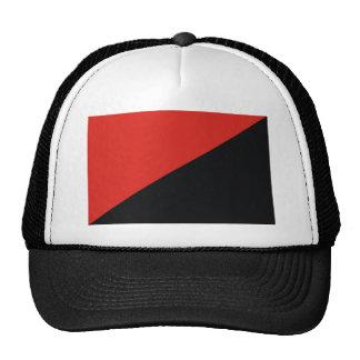 anarchy flag red black trucker hat