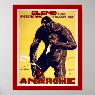 Anarchy - German WWI Poster (border)