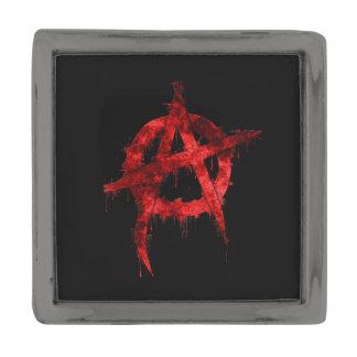 Anarchy Gunmetal Finish Lapel Pin