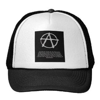 anarchy. trucker hat