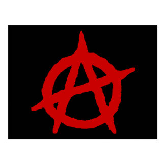 Anarchy in Red Postcard