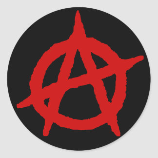 Anarchy in Red Classic Round Sticker