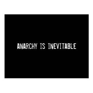 anarchy is inevitable postcard