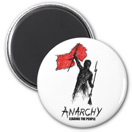 Anarchy Leading the People 2 Inch Round Magnet