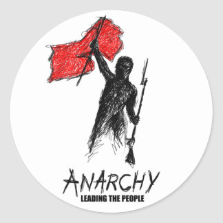 Anarchy Leading the People Classic Round Sticker