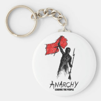 Anarchy Leading the People Basic Round Button Keychain