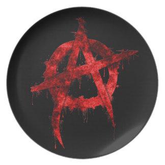 Anarchy Melamine Plate