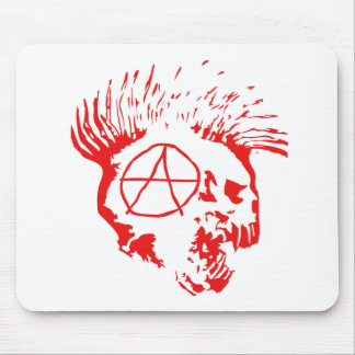 Anarchy Mohawk Skull Mouse Pad