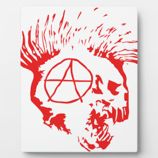 Anarchy Mohawk Skull Plaques