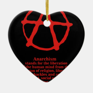Anarchy Double-Sided Heart Ceramic Christmas Ornament