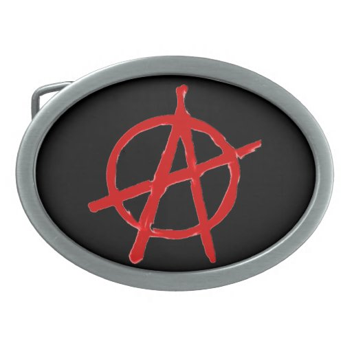 Anarchy Oval Belt Buckles