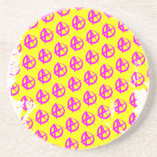 Anarchy Pattern Drink Coaster
