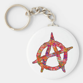 Anarchy Peace Plain Keychain