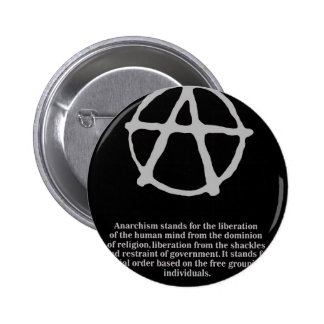 anarchy. pinback button