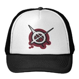 Anarchy punk rock music trucker hat