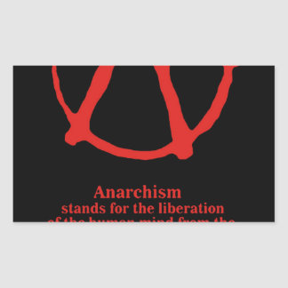 Anarchy Rectangular Stickers