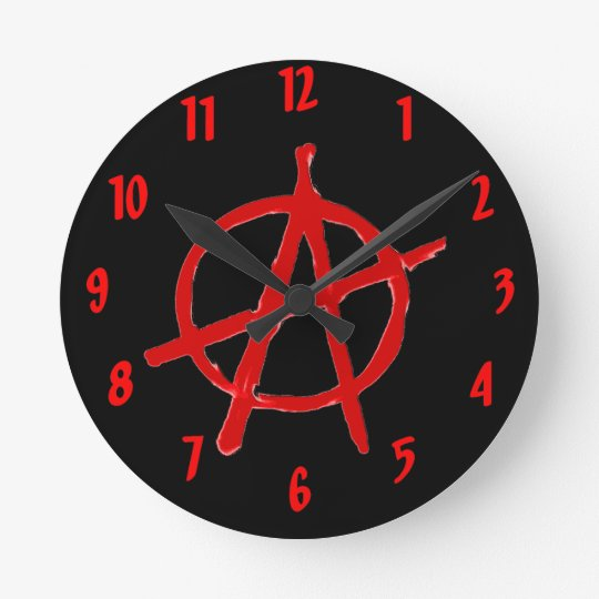 Anarchy Round Clock
