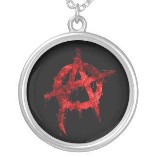 Anarchy Round Pendant Necklace