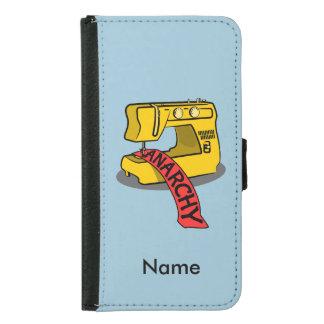 Anarchy Sewing Machine Samsung Galaxy S5 Wallet Case