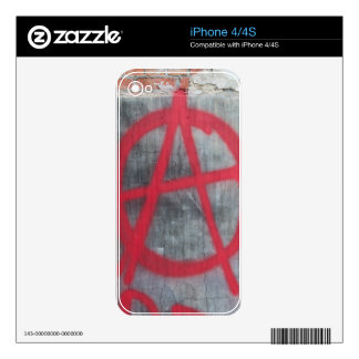 Anarchy Sign iPhone 4 Skin