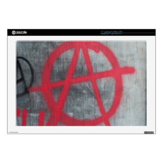 "Anarchy Sign Skin For 17"" Laptop"