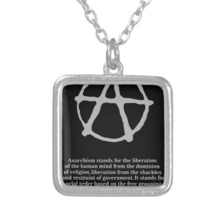 anarchy. silver plated necklace