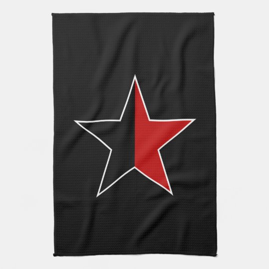 Anarchy star (black-red) towel