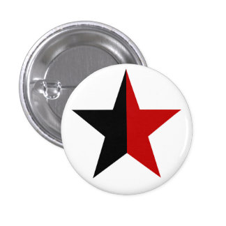 Anarchy star classical (black/red) 1 inch round button