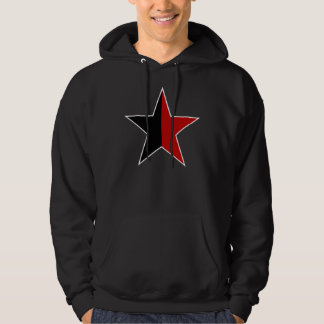 Anarchy star classical (black/red) hoodie