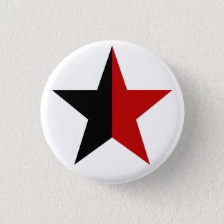Anarchy star classical (black/red) pinback button