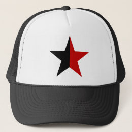 Anarchy star classical (black/red) trucker hat
