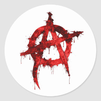 Anarchy Round Stickers