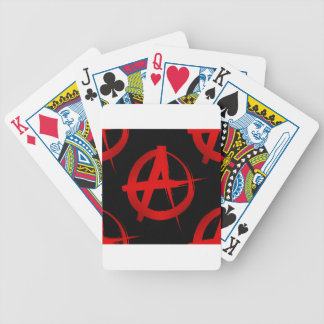 Anarchy symbol bicycle playing cards