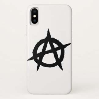 Anarchy symbol black punk music culture sign chaos iPhone x case