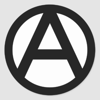 Anarchy Symbol Classic Round Sticker
