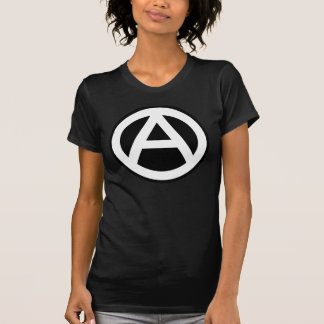 Anarchy symbol classical (black background) shirts