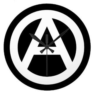 Anarchy symbol Clock