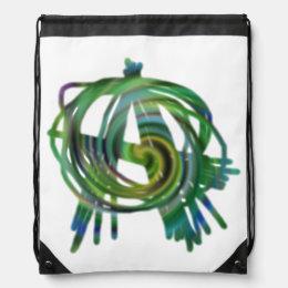 Anarchy symbol drawstring backpack