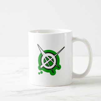 ANARCHY symbol green Classic White Coffee Mug