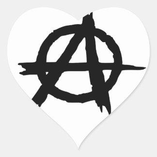 Anarchy Symbol Heart Sticker