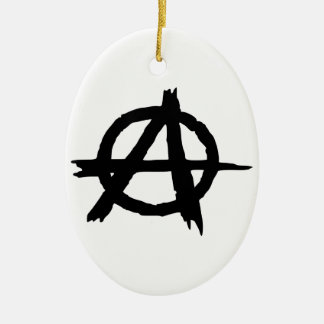 Anarchy Symbol Christmas Ornaments