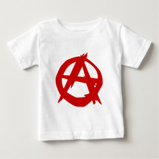 Anarchy Symbol Red A and Circle Without Ruler Baby T-Shirt