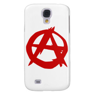Anarchy Symbol Red A and Circle Without Ruler Galaxy S4 Cover