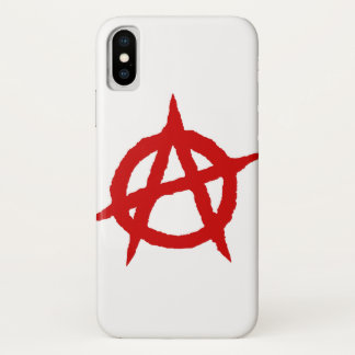 Anarchy symbol red punk music culture sign chaos p iPhone x case