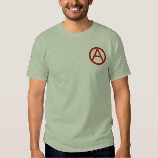 Anarchy symbol (small logo) men's t-shirt