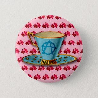 Anarchy Teacup Button Badge