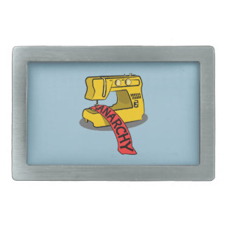 Anarchy Yellow Sewing Machine Belt Buckle