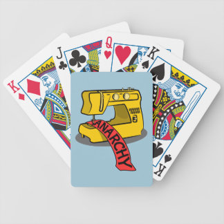 Anarchy Yellow Sewing Machine Bicycle Playing Cards