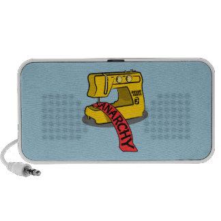 Anarchy Yellow Sewing Machine Mini Speaker