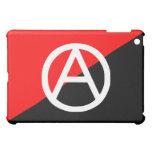 Anarquía blanco y negro roja de la bandera del ana